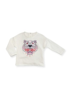 Kenzo Long-Sleeve Tiger Tee  Off White  Size 2-3