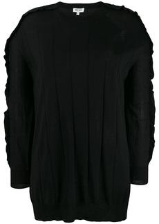 Kenzo longline ruffle trim sweater