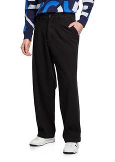 Kenzo Men's High-Rise Drill Chino Pants