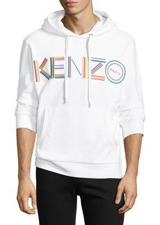 Kenzo Men's Multicolor Logo Embroidered Pullover Cotton Hoodie Sweatshirt