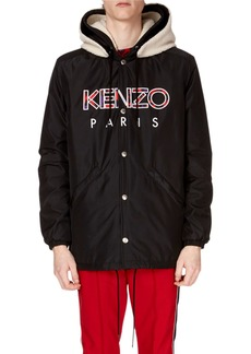 Kenzo Men's Paris Logo Hooded Jacket