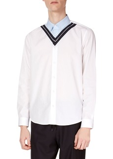 Kenzo Men's Patched Casual Shirt
