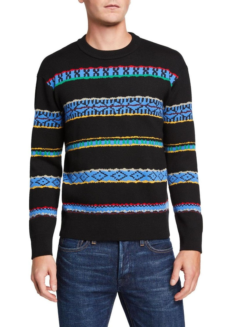 Kenzo Men's Peruvian Striped Crewneck Sweater