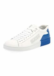 Kenzo Men's Tennix Two-Tone Leather Sneakers