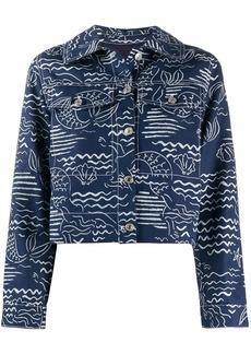 Kenzo mermaid print cropped jacket