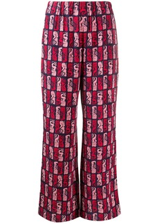 Kenzo mermaid-print trousers