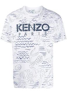 Kenzo Mermaids print T-shirt