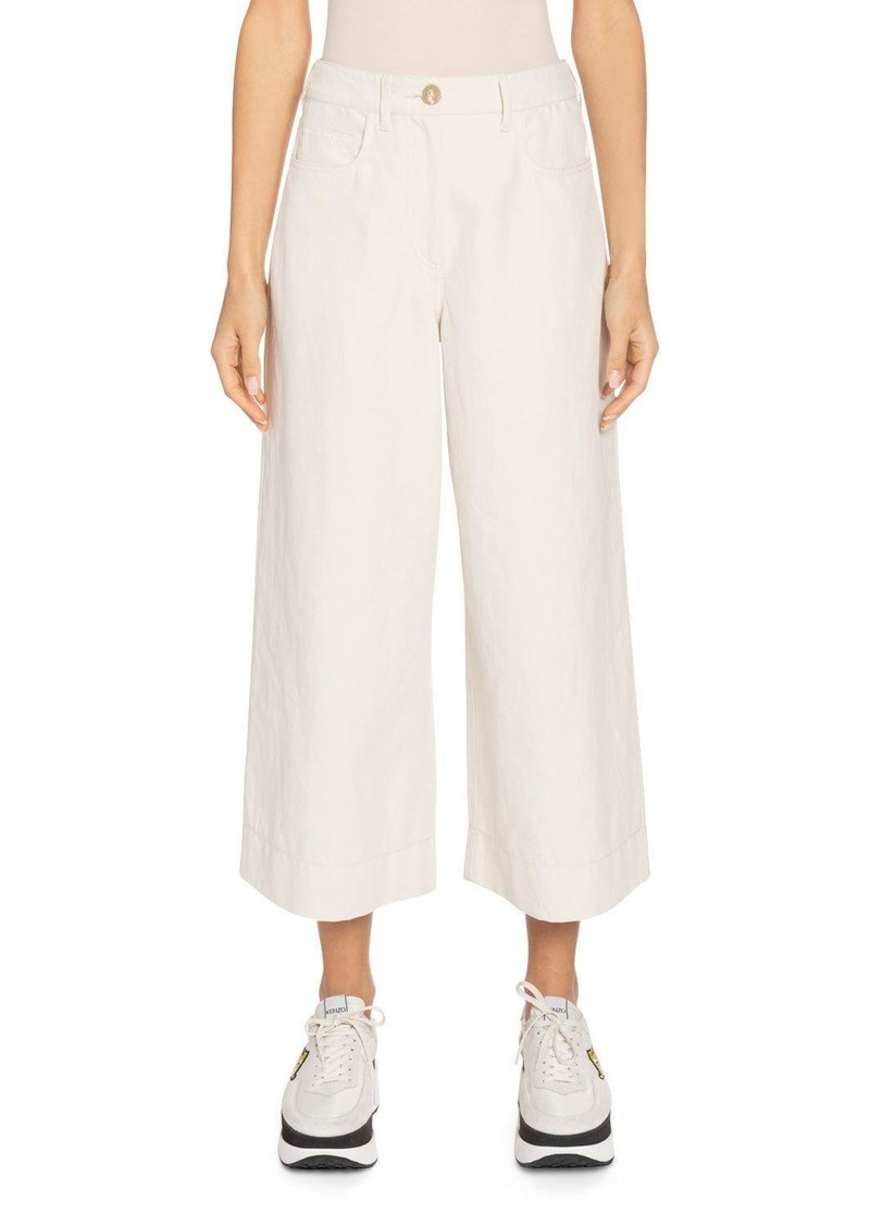 Kenzo Mid-Rise Culotte Pants