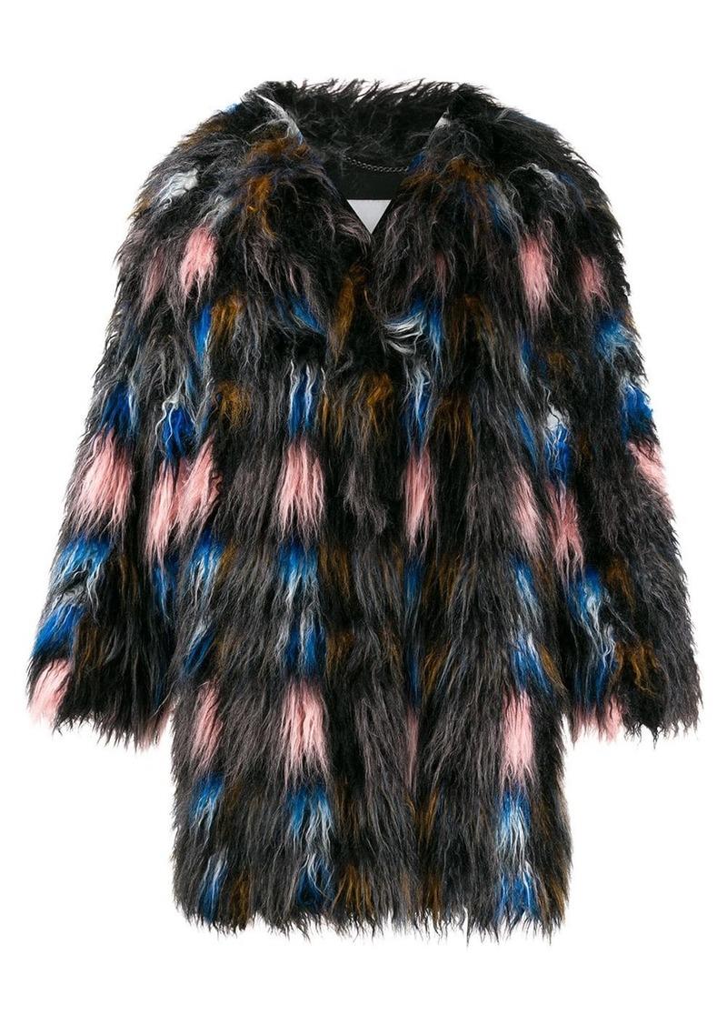 Kenzo midi shearling coat