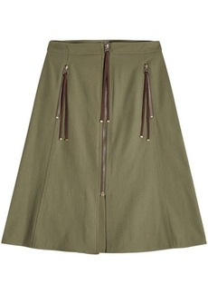 Kenzo Midi Skirt with Zipper Front