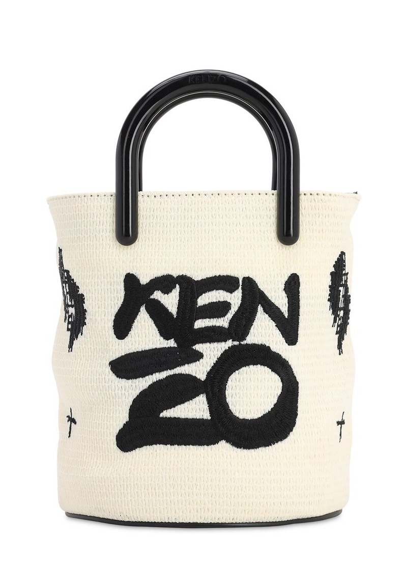 Kenzo Mini Coated Canvas Logo Bucket Bag