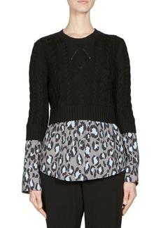 Kenzo Mixed Leopard Poplin Sweater