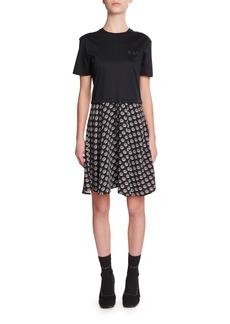 Kenzo Mixed-Media Woven T-Shirt Dress