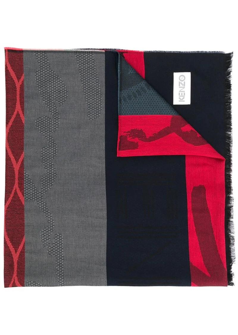 Kenzo multi-icons scarf