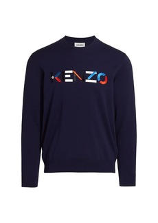 Kenzo Multicolor Logo Crew Sweater