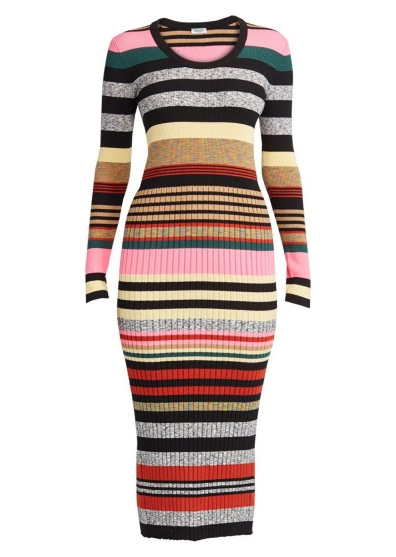 Kenzo Multicolor Stripe Knit Dress