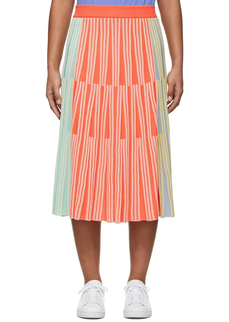 Kenzo Multicolor Stripe Ribbed Skirt