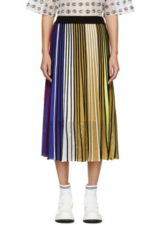 Kenzo Multicolor Vertical Rib Skirt