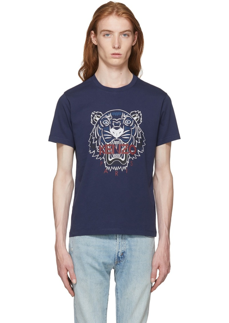 Kenzo Navy Bleached Tiger T-Shirt