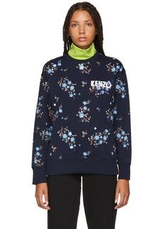 Kenzo Navy Floral Comfort Sweatshirt