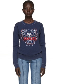 Kenzo Navy Limited Edition Bleached Tiger Sweatshirt