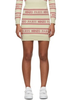 Kenzo Off-White All-Over Logo Miniskirt