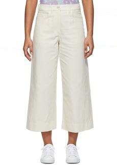 Kenzo Off-White Linen Culottes