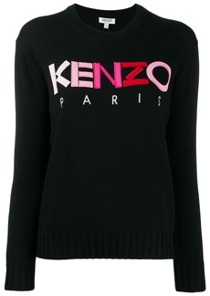 Kenzo ombré logo embroidered sweater