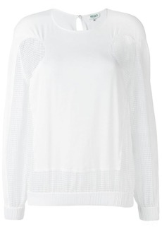 Kenzo open knit panel blouse