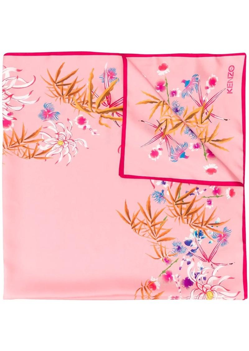 Kenzo oriental flora-print scarf