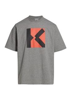Kenzo Oversized Blocked K Logo T-Shirt