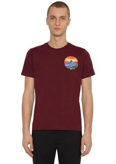 Kenzo Painted Landscape Cotton T-shirt