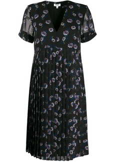 Kenzo Passion Flower pleated dress
