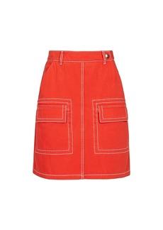 Kenzo Patch Pocket A-Line Skirt