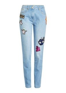 Kenzo Patched Baggy Jeans