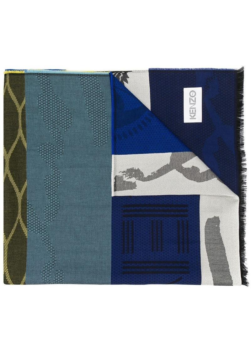 Kenzo patchwork-jacquard scarf