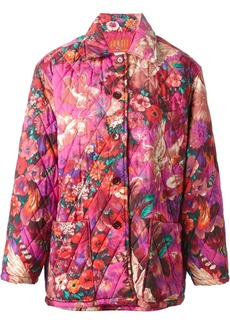 Kenzo 1980s Pegas-print quilted coat