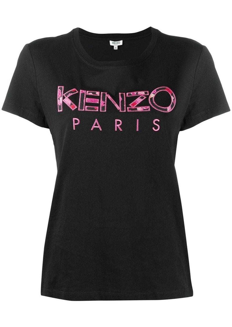 Kenzo peonies logo T-shirt
