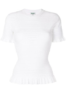 Kenzo perforated knit top
