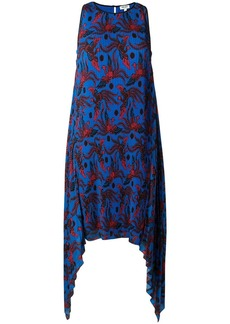 Kenzo phoenix print pleated dress