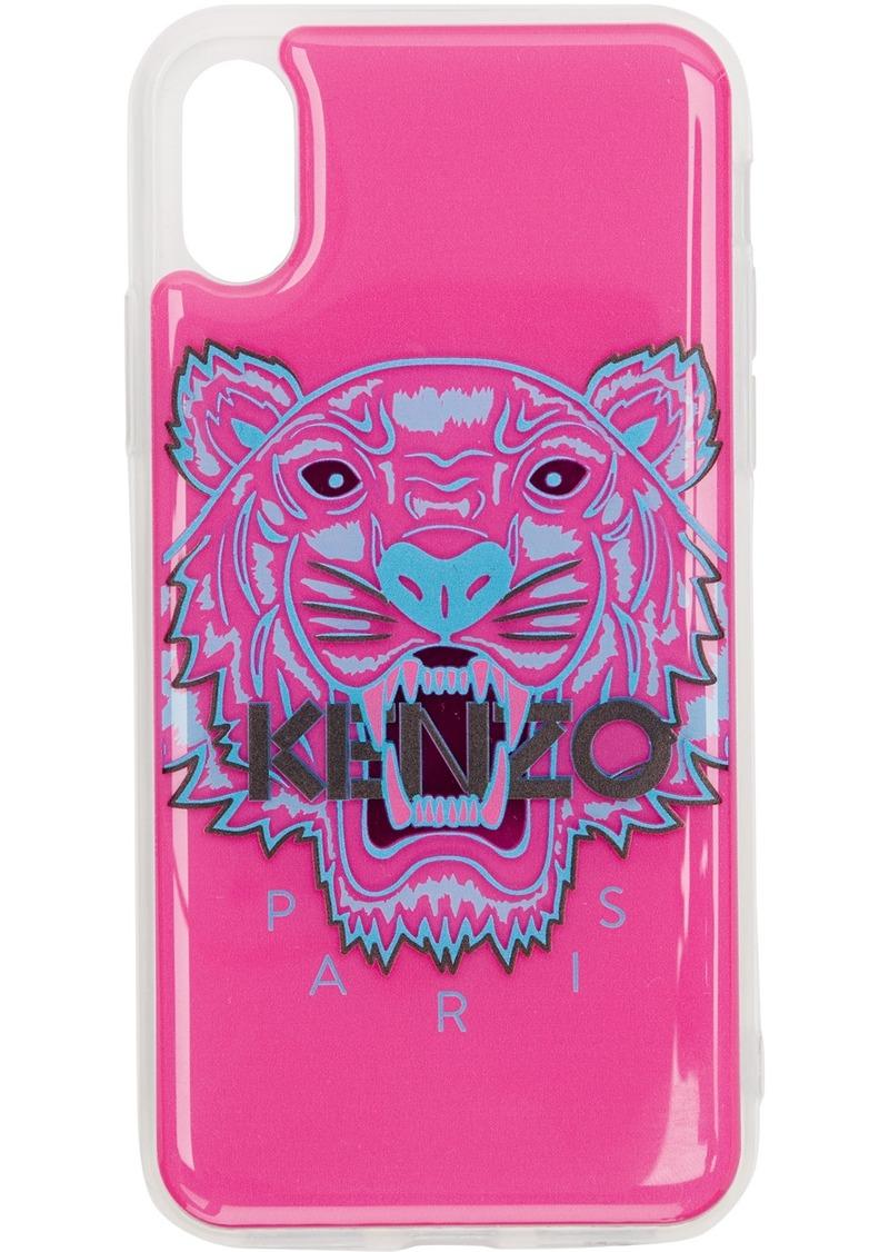 Kenzo Pink & Blue 3D Tiger Head iPhone X/Xs Case
