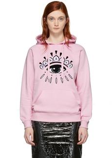 Kenzo Pink Eye Logo Hoodie