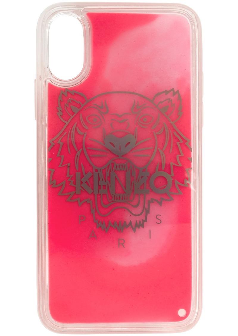 Kenzo Pink Glow-In-The-Dark Tiger Head iPhone X/XS Case