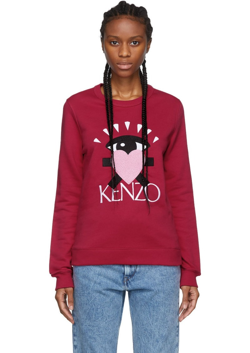 Kenzo Pink Limited Edition Cupid Eye Sweatshirt