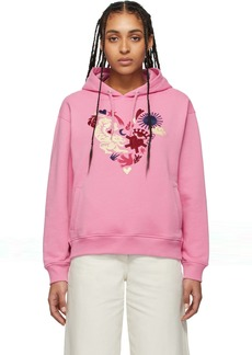 Kenzo Pink Limited Edition Valentine's Day Heart Print Hoodie