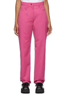 Kenzo Pink Straight Cropped Trousers