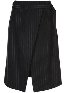 Kenzo pinstripe wrap skirt
