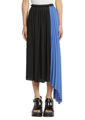 Kenzo Pleated Asymmetric Midi Skirt