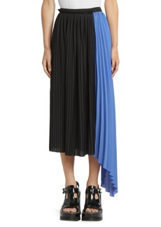 Kenzo Pleated Asymmetric Midi Skirt