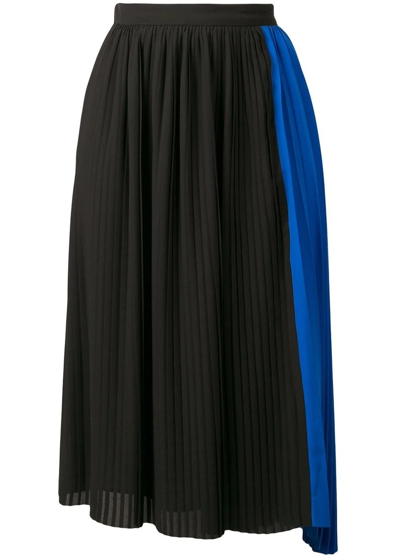 Kenzo pleated asymmetric skirt
